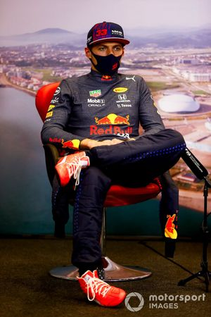 Max Verstappen, Red Bull Racing, 2nd position, in the post race Press Conference