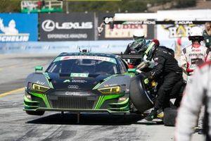 #39: CarBahn with Peregrine Racing Audi R8 LMS GT3, GTD: Richard Heistand, Jeff Westphal, pit stop