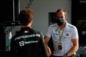 Nyck de Vries, Mercedes-Benz EQ, avec Gary Paffett, Pilote de réserve et de développement, Consultant sportif et technique, Mercedes Benz EQ