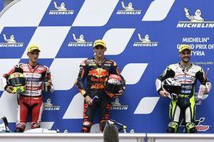 Pole, Deniz Oncu, Red Bull KTM Tech 3, 2º Sergio Garcia, Aspar Team Moto3, 3º Romano Fenati, Max Racing Team