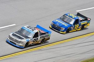 Grant Enfinger, ThorSport Racing, Toyota Tundra Champion/Curb Records, Todd Gilliland, Front Row Motorsports, Ford F-150 Speedco