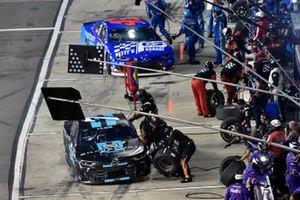 Corey LaJoie, Spire Motorsports, Chevrolet Camaro Shavelogic and Erik Jones, Richard Petty Motorsports, Chevrolet Camaro Petty's Garage