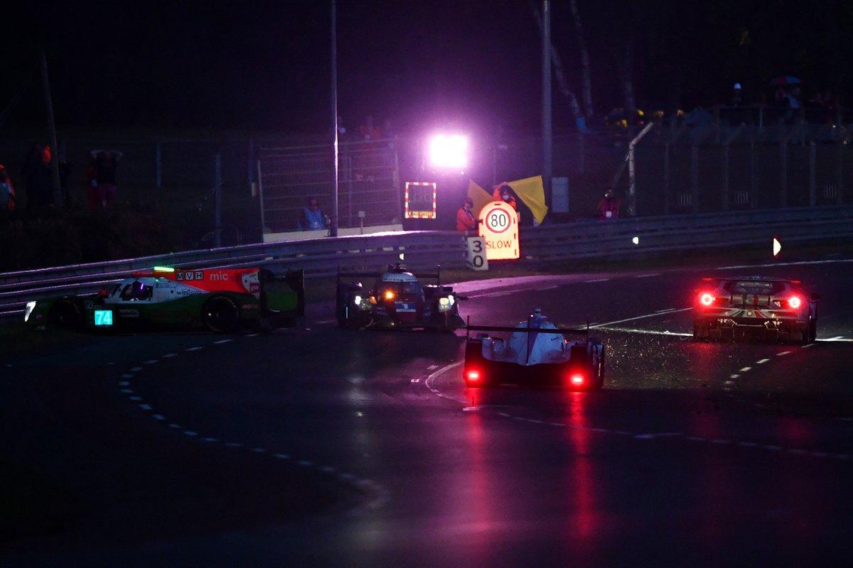Crash: #74 Racing Team India Eurasia Ligier JSP217 - Gibson LMP2, James Winslow, John Corbett, Tom Cloet, #1 Richard Mille Racing Team Oreca 07 - Gibson LMP2, Tatiana Calderon, Sophia Flörsch, Beitske Visser