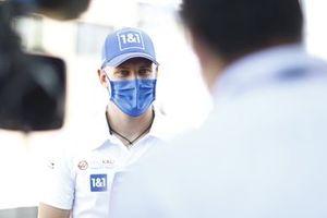 Mick Schumacher, Haas F1, is interviewed by Sky