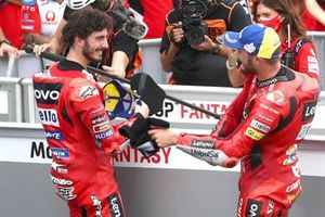 Polesitter Francesco Bagnaia, Ducati Team, 2. Jack Miller, Ducati Team