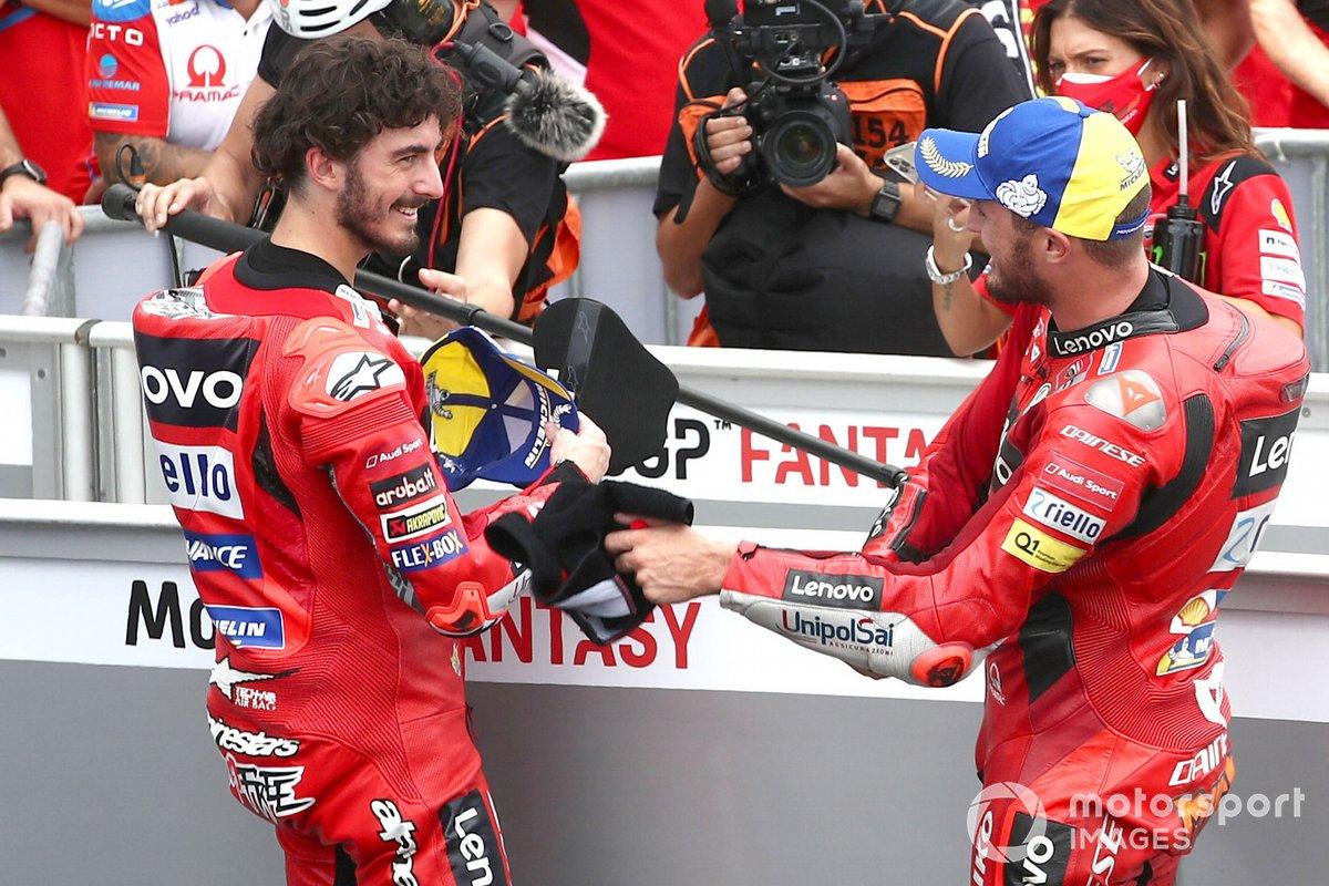 Ganador de la pole Francesco Bagnaia, segundo Jack Miller, Ducati Team