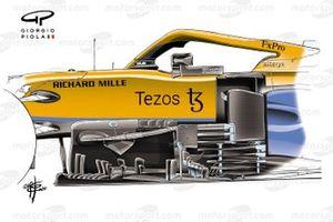 Nuevos bargeboards del McLaren MCL35M