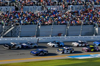 Aric Almirola, Stewart-Haas Racing, Ford Mustang Smithfield, Chris Buescher, Roush Fenway Racing, Ford Mustang Fastenal and Kevin Harvick, Stewart-Haas Racing, Ford Mustang Busch Light #PIT4BUSCH