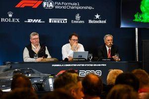 The 2021 Formula 1 technical regulations are announced, Ross Brawn, Managing Director of Motorsports, FOM, Nikolas Tombazis