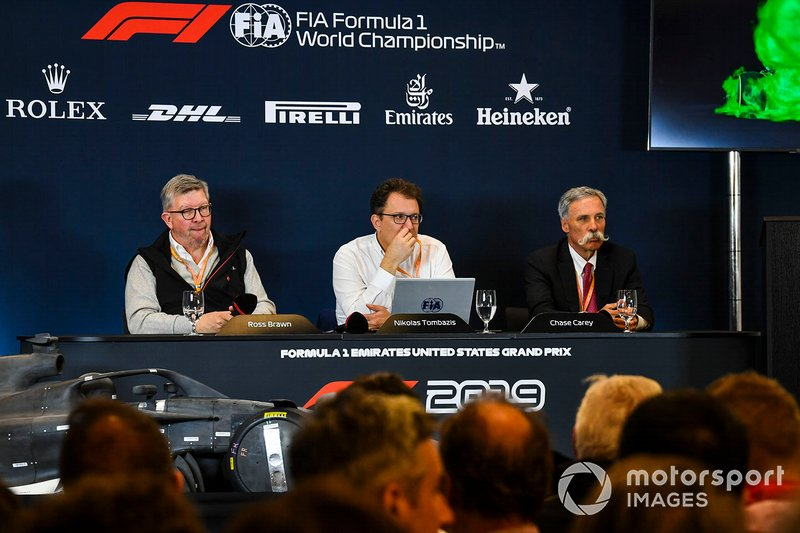 The 2021 Formula 1 technical regulations are announced, Ross Brawn, Managing Director of Motorsports, FOM, Nikolas Tombazis
