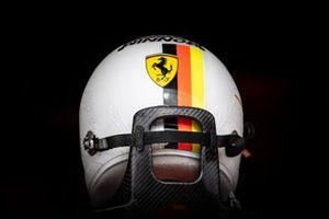 The helmet of Sebastian Vettel, Ferrari