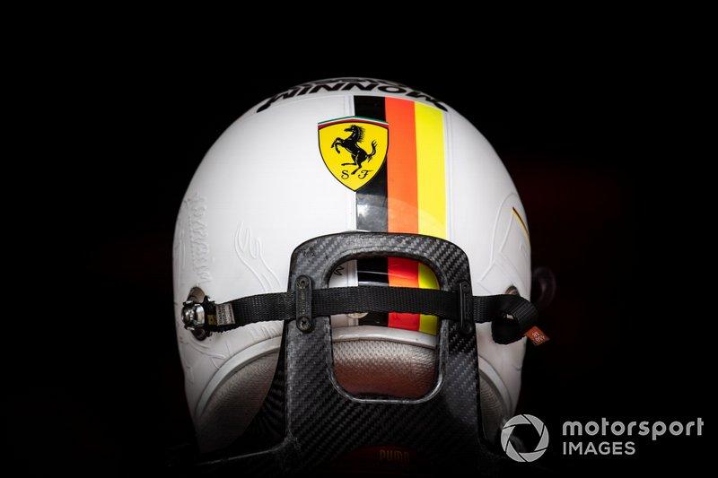 Casco de Sebastian Vettel, Ferrari