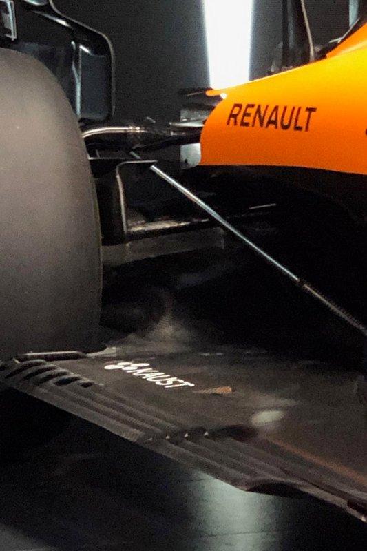 McLaren MCL35, dettaglio della parte posteriore