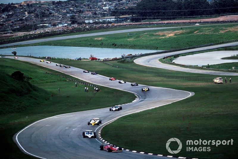 Gilles Villeneuve, Ferrari, Jean-Pierre Jabouille, Renault,Didier Pironi, Ligier