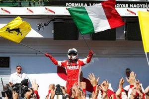 Victoire pour Sebastian Vettel, Ferrari