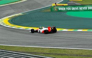 Bruno Senna drives the McLaren MP4/4