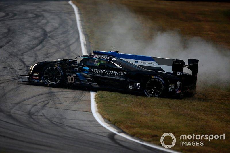#10 Wayne Taylor Racing Cadillac DPi: Renger Van Der Zande, Jordan Taylor, Matthieu Vaxiviere spins
