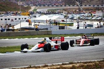 Ayrton Senna, McLaren, Alain Prost, Ferrari, al GP della Spagna del 1990