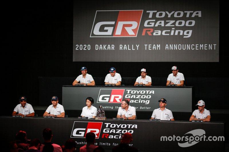 Участники пресс-конференции Toyota Gazoo Racing