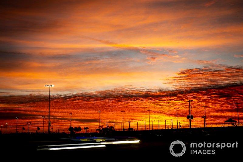 Panoramica durante l'alba