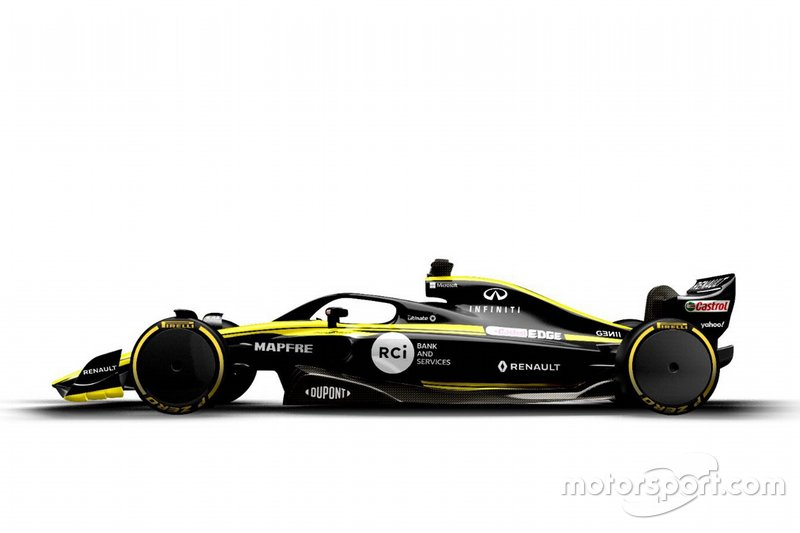 2021 F1 car of Renault F1 Team