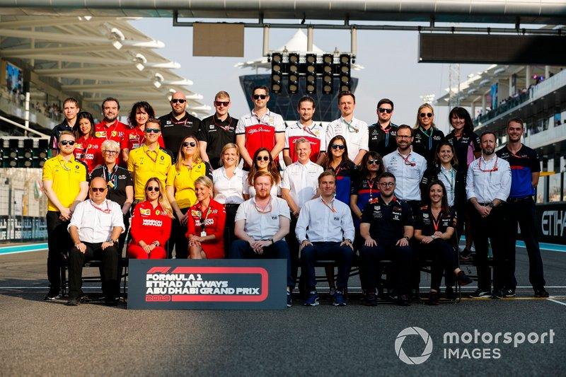 Addetti stampa e personale del Team F1 del 2019