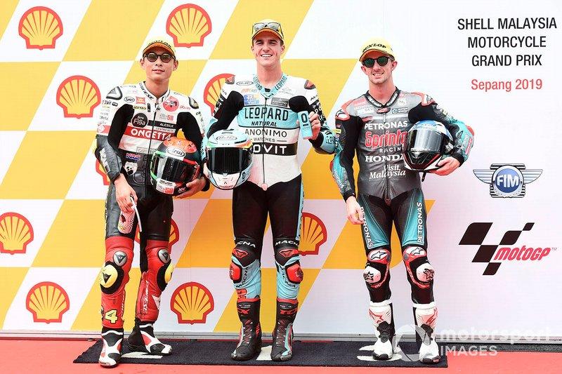 Ganador de la pole Marcos Ramirez, Leopard Racing, segundo Tatsuki Suzuki, SIC58 Squadra Corse, tercero John McPhee, SIC Racing Team
