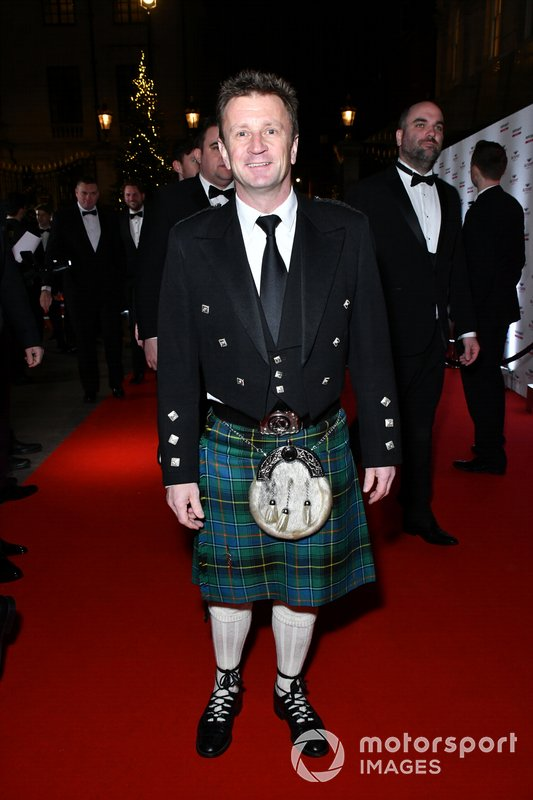 Allan McNish on the red carpet