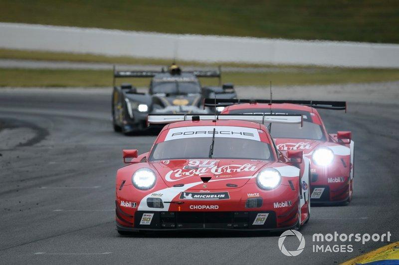 #912 Porsche GT Team Porsche 911 RSR, GTLM: Earl Bamber, Laurens Vanthoor, Mathieu Jaminet, #911 Porsche GT Team Porsche 911 RSR, GTLM: Patrick Pilet, Nick Tandy, Frederic Makowiecki