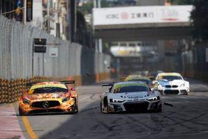 #888 Mercedes-AMG Team GruppeM Racing Mercedes AMG GT3: Maro Engel, #31 Audi Sport Team Rutronik Audi R8 LMS: Kelvin van der Linde