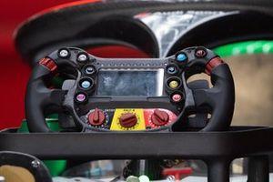 Steering wheel of Daniel Abt, Audi Sport ABT Schaeffler, Audi e-tron FE06