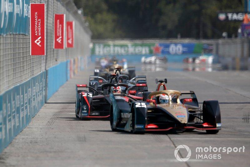 Jean-Eric Vergne, DS Techeetah, DS E-Tense FE20, Sébastien Buemi, Nissan e.Dams, Nissan IMO2