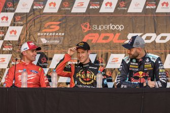 Will Davison, 23Red Racing Ford, David Reynolds, Erebus Motorsport Holden, Shane van Gisbergen, Triple Eight Race Engineering Holden