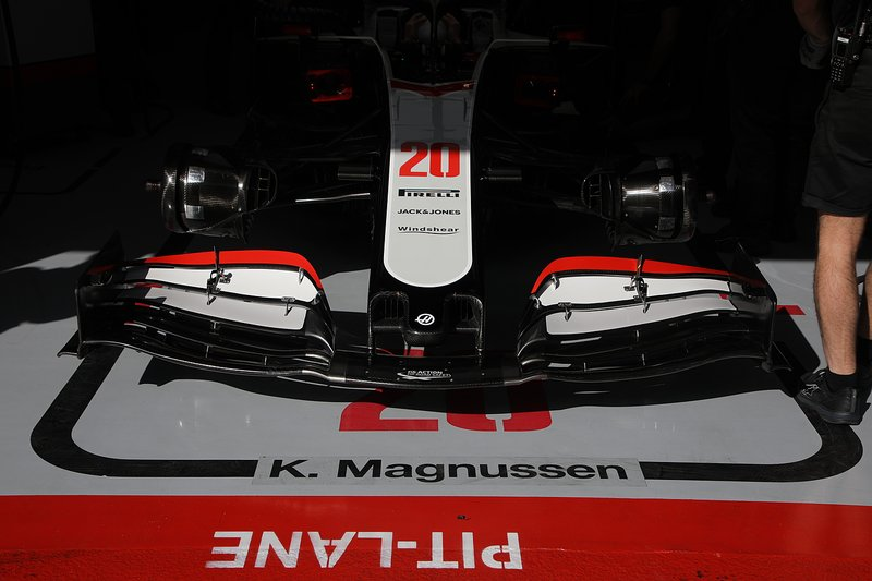 Haas F1 Team VF-20 front nose detail