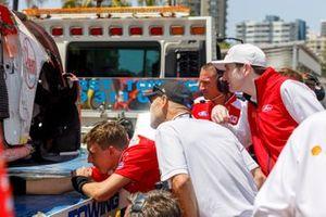 Car of Scott McLaughlin, DJR Team Penske Ford, after his crash
