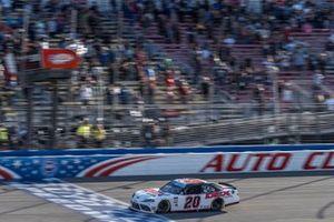 Harrison Burton, Joe Gibbs Racing, Toyota Supra Dex Imaging takes the checkered flag