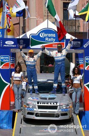 Rally winner Marcos Ligato, Mitsubishi Lancer EVO VII