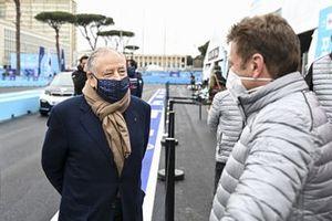 Allan McNish, Team Principal, Audi Sport ABT Schaeffler, with Jean Todt, President, FIA