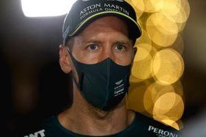 Sebastian Vettel, Aston Martin speaks to the media