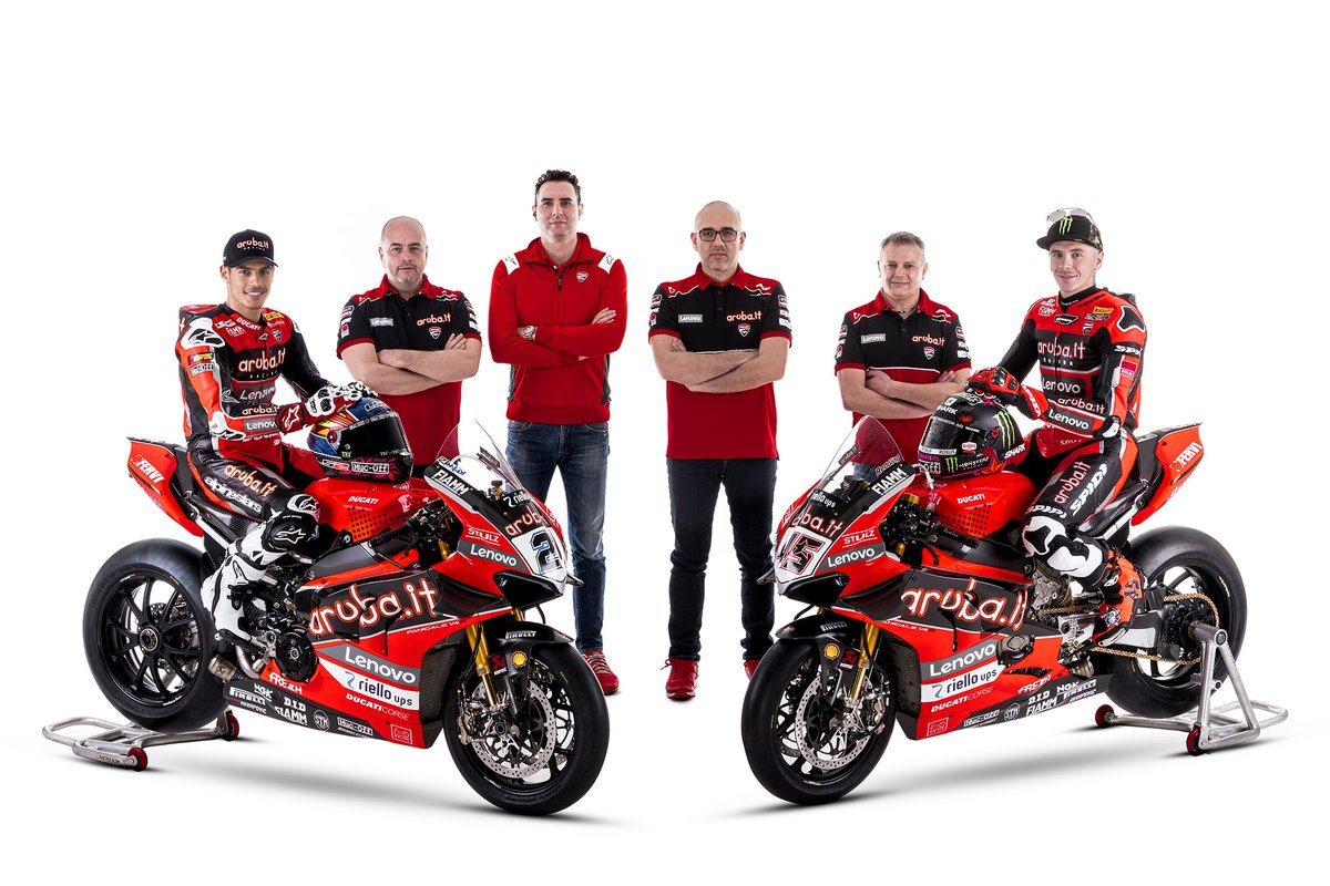 Michael Ruben Rinaldi, Aruba.It Racing - Ducati, Scott Redding, Aruba.It Racing - Ducati con il team