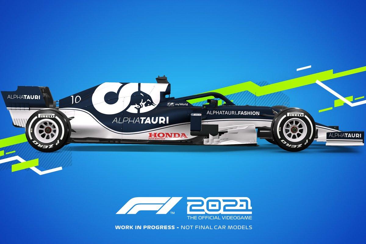 Decoración F1 2021 AlphaTauri