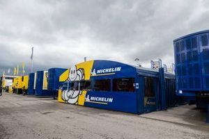 Paddock, trucks, Michelin