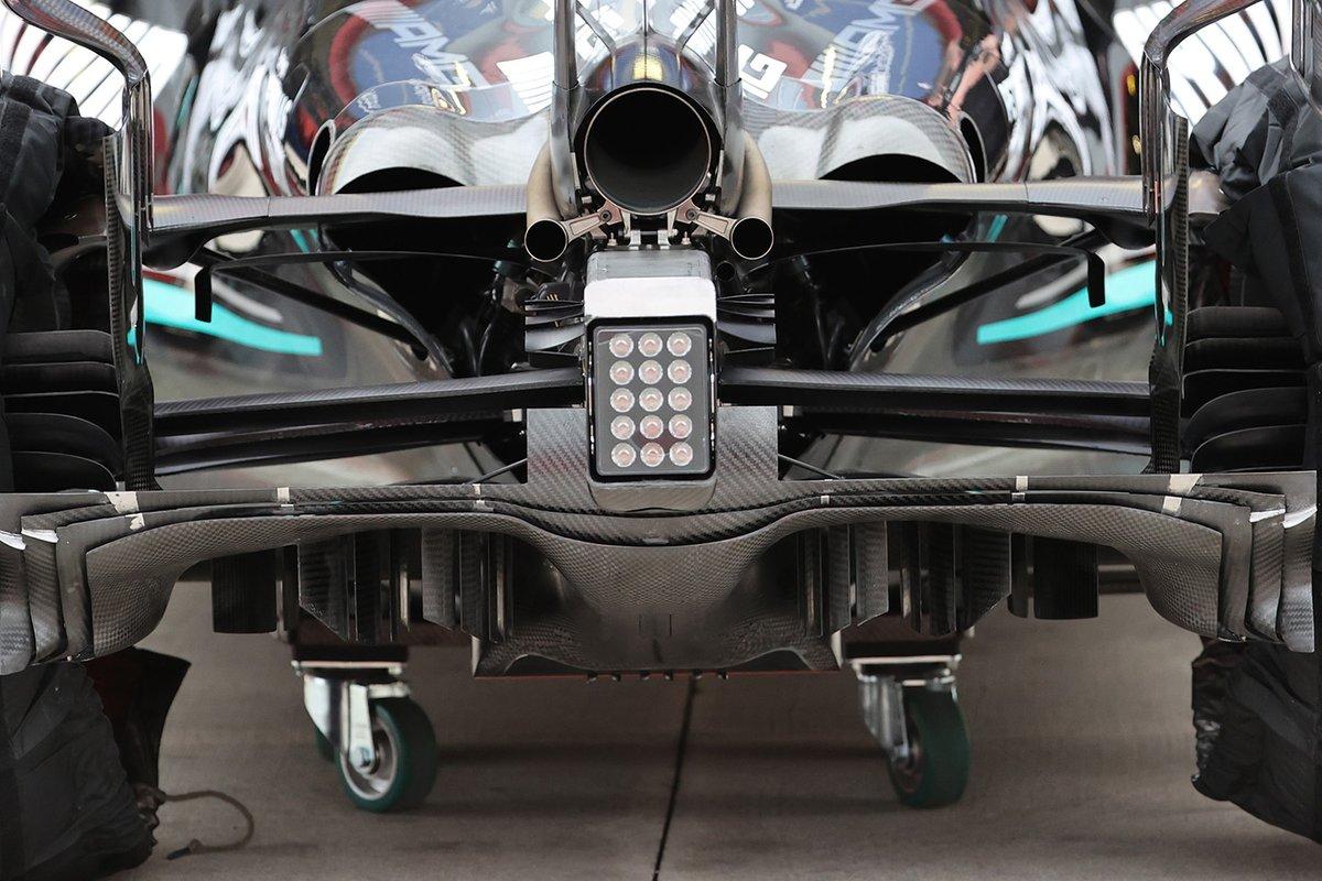 Detalle del difusor del Mercedes F1 W12