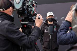 Valtteri Bottas, Mercedes-AMG F1, is interviewed