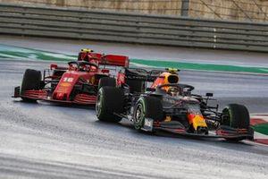 Alex Albon, Red Bull Racing RB16, Charles Leclerc, Ferrari SF1000