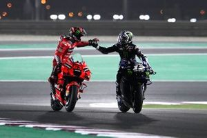 1. Maverick Vinales, Yamaha Factory Racing, 3. Francesco Bagnaia, Ducati Team