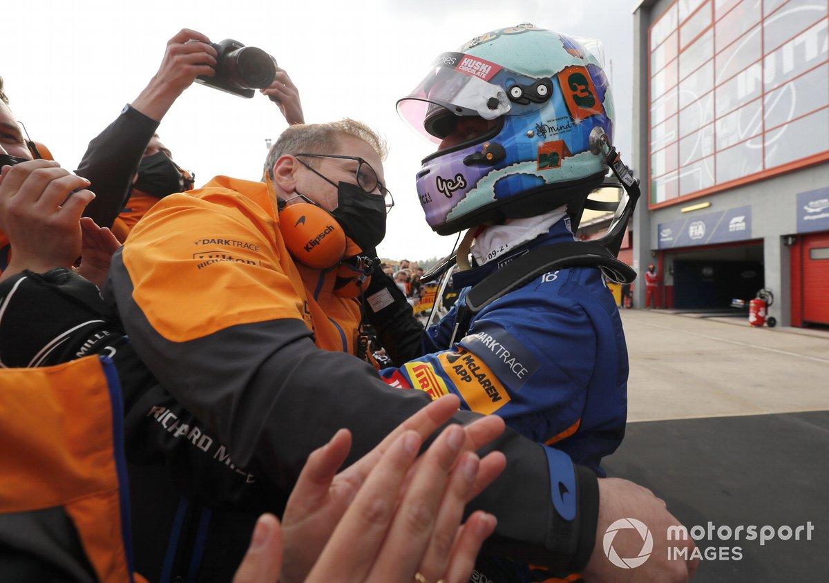 Daniel Ricciardo, McLaren, después de la carrera