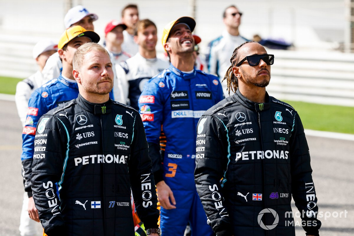 Valtteri Bottas, Mercedes y Lewis Hamilton, Mercedes