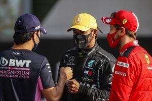Sergio Perez, Racing Point, Lewis Hamilton, Mercedes F1, Sebastian Vettel, Ferrari