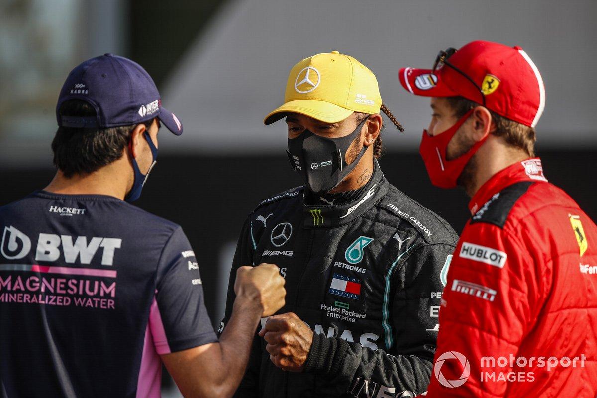 Sergio Pérez, Racing Point, Lewis Hamilton, Mercedes F1, Sebastian Vettel, Ferrari